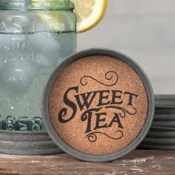 Mason Jar Lid Coaster Sweet Tea