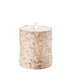 Wax Pillar Fireless Candle Birch 4