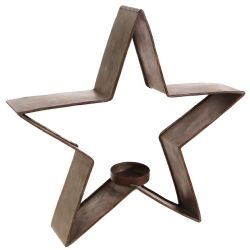 Galvanized Metal Star Small