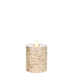 Wax Pillar Fireless Candle Birch 3.25