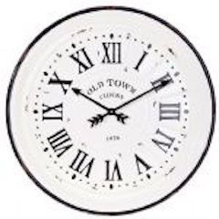 Enamelware Black/White Clock