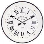 Enamelware Black/White Clock