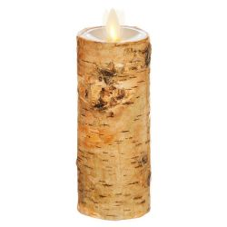 Wax Pillar Fireless Candle Birch 2