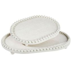 Tray Oval Bead Tray W/Bead Trim | 2 Sizes