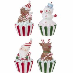Holiday Figurine Cupcakes | 4 Styles