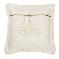 Pillow-Natural Tassel
