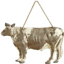 Embossed Tin Cow Wall Decor