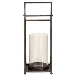 Lantern Open Metal W/Glass Globe