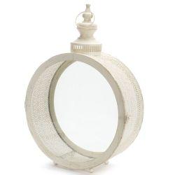Round Ivory Filigree Lantern Large