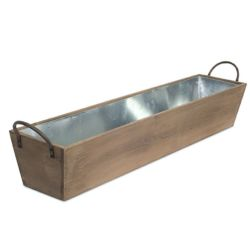 Tray Metal/Wood Large