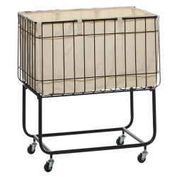 Metal Fabric Storage Cart/Laundry Basket