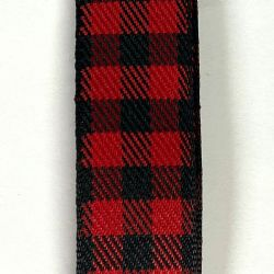 Black/Red Buffalo Plaid 7/8