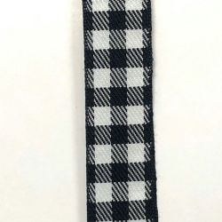 Black/White Buffalo Plaid 7/8