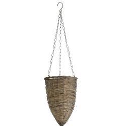 Hanging Basket Willow/Metal SM