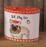 Dog Canister-Eat, Play, Love