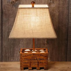LA Vintage Country Fresh Eggs Lamp