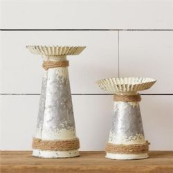 Metal Farmhouse Candle Holders