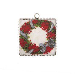 Mini Geranium Wreath Print