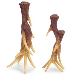 Antler Taper Candle Holders Set/2