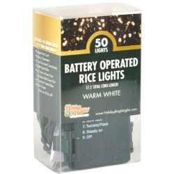 Battery Operated Rice Lights (Warm White)
