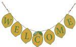 Lemon Welcome Hanging Banner