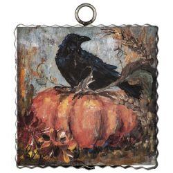Mini Pumpkin And Crow Print