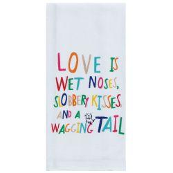 KT Love Is Wet Noses Tea Towel