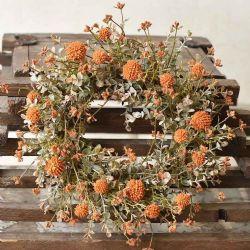 Candle Ring Farmhouse Fall   Pumpkin 6