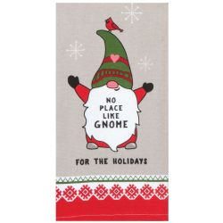 Gnome for the Holidays Tea Towel