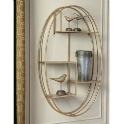 Gold Oval Wall Shelf