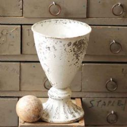 Chippy Farmhouse Creamy White Goblet 6