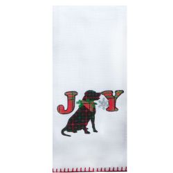 Holiday Dog Appliqué Tea Towel