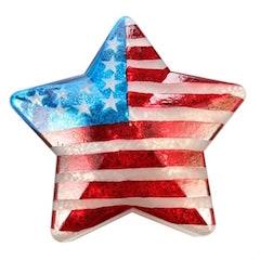 Americana Light Up Glass Star 10.75