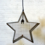 Vintage Hanging Star Light Fixture