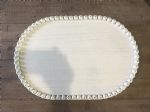 Tray (Oval Wood Tray W/Bead Trim Large)