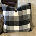Pillow-Black/White Check