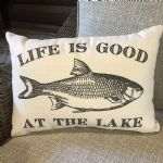 Pillow-Life Is Good At The Lake