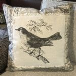 Pillow-Vintage Bird