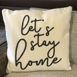 Pillow-Let's Stay Home