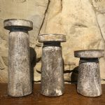Candle Holders Set/3 Wood