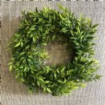 Candle Ring Mini Ruscus Spring Green (Large)