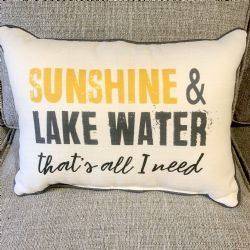 Pillow-Sunshine & Lake Water