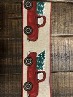 Ribbon Natural Linen/Truck With Tree 2.5
