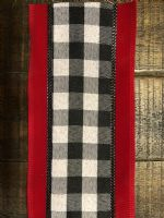 Ribon Black/White Check/Red Velvet Edge 4