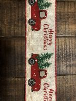 Ribbon Ivory Linen/Truck/Merry Christmas 2.5