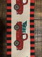 Ribbon Linen/Truck With Tree/Black Red Dash Edge 4