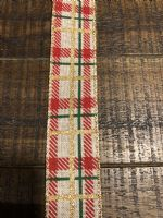 Ribbon Red/Green Elf Print 1.5