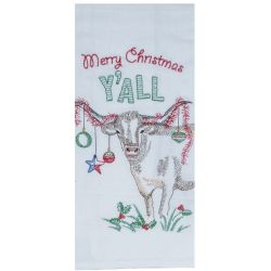 Merry Christmas Y'all Tea Towel