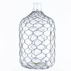 Jug Glass W/Chicken Wire Medium