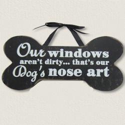 Pet Dogs Nose Art | Wood Sign